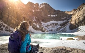 Early spring hike to Chasm Lake