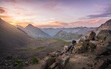 Sunrise on the west ridge of Mount Sneffels, Colorado