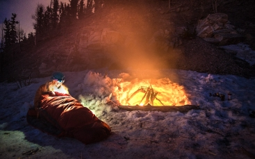 Winter camping near Breckenridge, Colorado