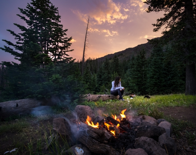 Camping in Flattops Wilderness, Colorado