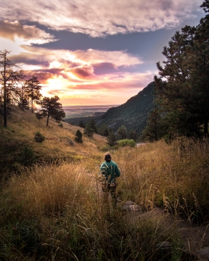Sunrise hike in Boulder, Colorado